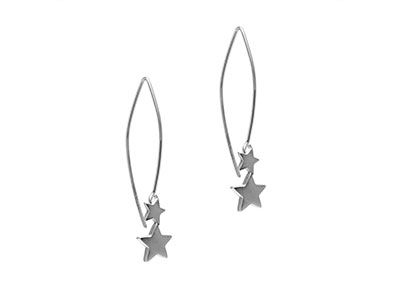 Silver Star Earrings by Julia Thompson