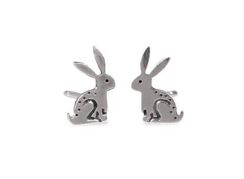 Sitting Rabbit Stud Earrings by Katie Stone
