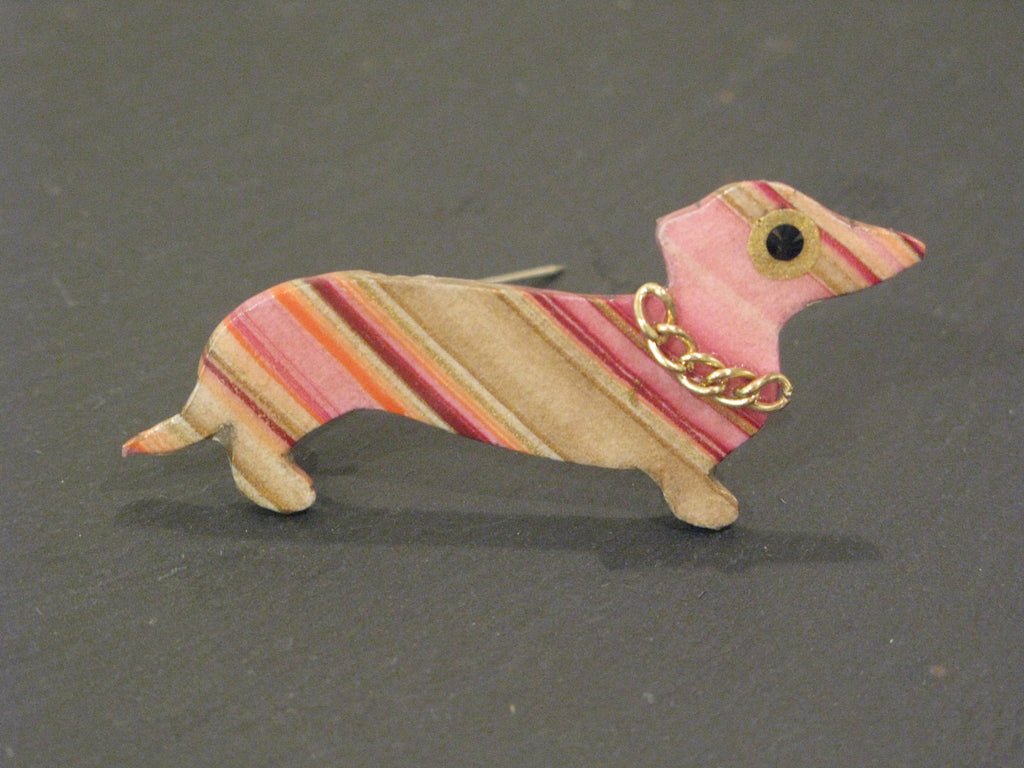 Dachshund Brooch by Sarah Kelly