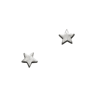 Silver Star Stud Earrings by Julia Thompson