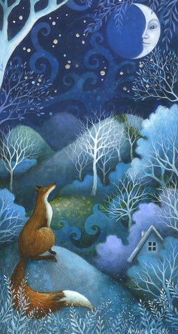Talking to the Moon - Limited edition print by Amanda Clark