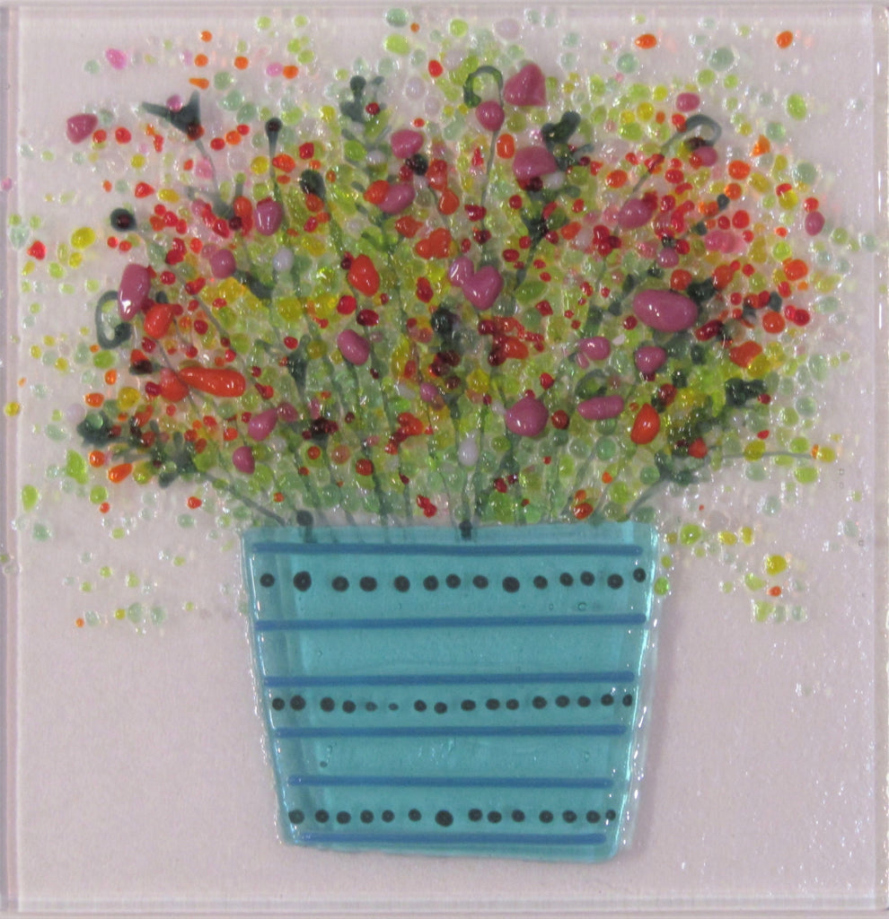 Time to Bloom - Fused Glass by Niko Brown