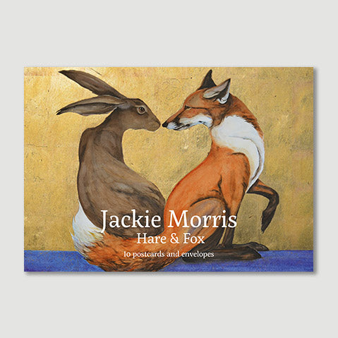 """Hare and Fox Postcard pack"" -  boxed set of postcards by Jackie Morris"