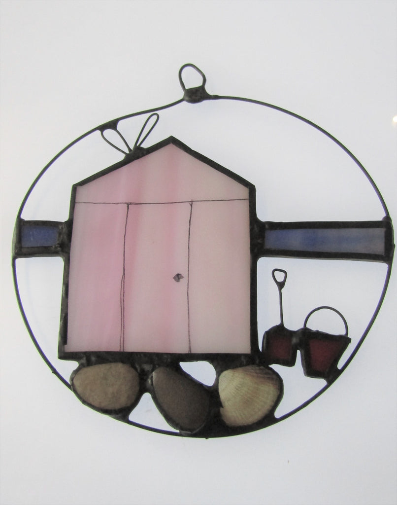 Hand painted glass and lead panel, by Naomi Brangwyn