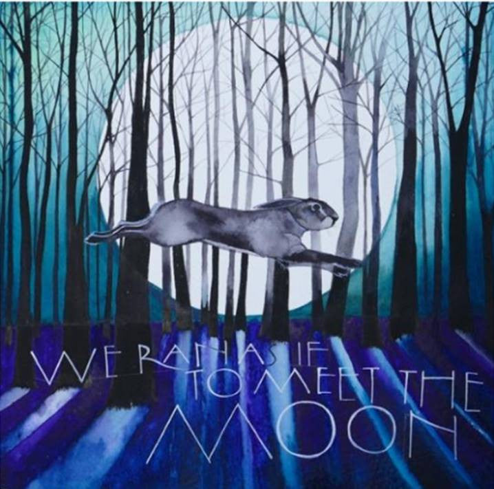 We Ran as if to Meet the Moon. Signed Limited Edition Mounted Print by Sam Cannon