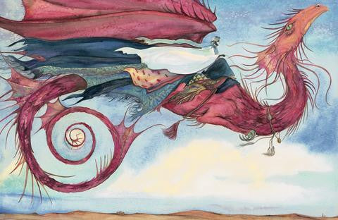 Limited edition print of 'Wind Dragon' by Jackie Morris.
