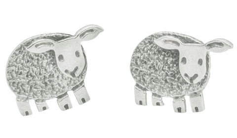 Woolly Sheep Stud Earrings by Katie Stone