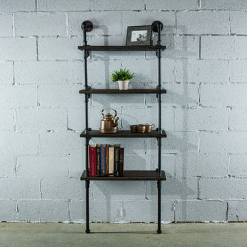Sacramento Industrial Chic 4-Tier Etagere Bookcase