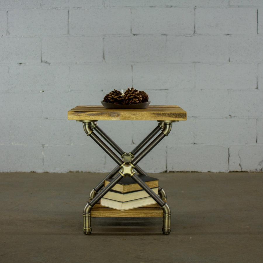 Houston Industrial Chic Side Table