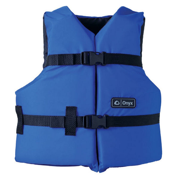 Onyx General Purpose Youth Life Vest Blue/Black