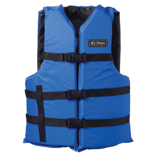 Onyx Adult General Purpose Life Vest Blue/Black