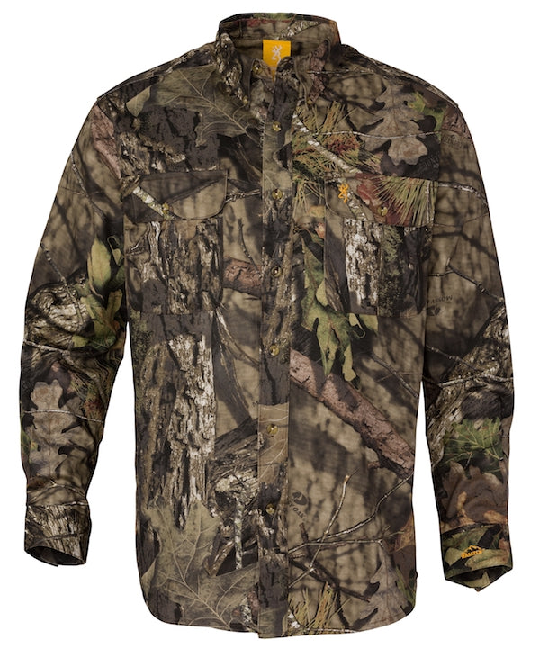 Browning Mens Wasatch-CB LS Button Down Camo Shirt