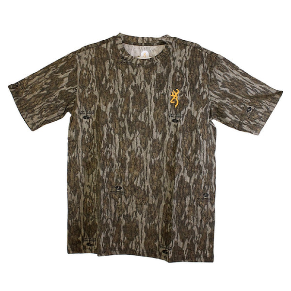 Browning Wasatch-CB Camo Short Sleeve T-Shirt Mossy Oak Bottomland