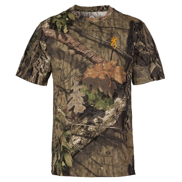 Browning Wasatch-CB Camo Short Sleeve T-Shirt Mossy Oak Break Up Country