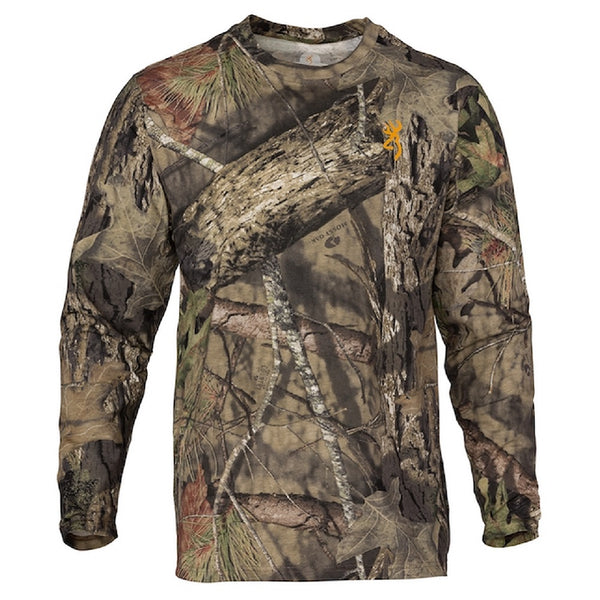 Browning Wasatch-CB Camo Long Sleeve T-Shirt Mossy Oak Break Up Country