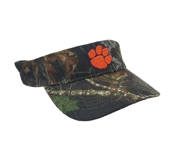 Collegiate Headwear Camo Visor with College Team Logo