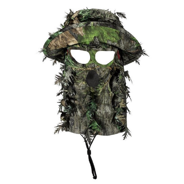 QuikCamo 3D Leafy Camo Bucket Hat with Face Concealment