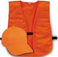 Outdoor Cap Adult Hunter's Safety Cap and Vest Combo