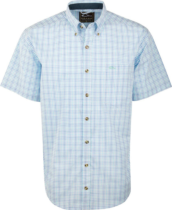 Drake Waterfowl Big Easy Short Sleeve Plaid Shirts with Staycool Fabric