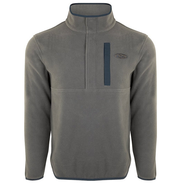 Drake Waterfowl Camp Fleece Pullover 2.0 Charcoal/Navy