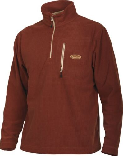 Drake Waterfowl Systems Square Check Camp Fleece 1/4 Zip Pullover