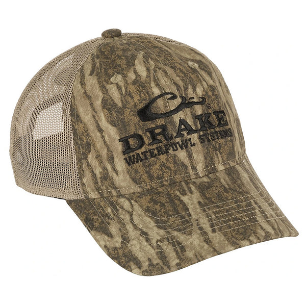 Drake Waterfowl Systems Logo Meshback Camouflage Cap