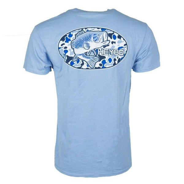 Heybo Old School Bass Short Sleeve T-Shirt Sky Blue