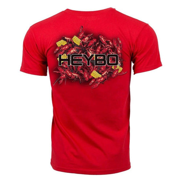 Heybo Crawfish Boil Short Sleeve T-Shirt Cardinal Red