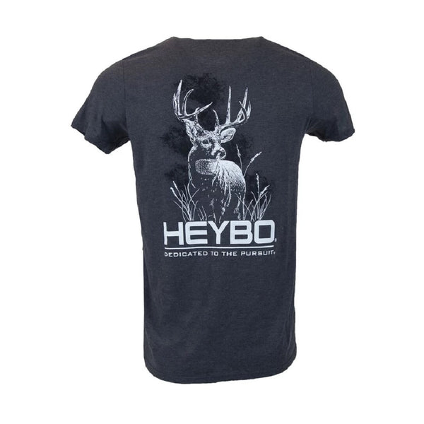 Heybo Buck Silhouette Short Sleeve Tri-Blend T-Shirt