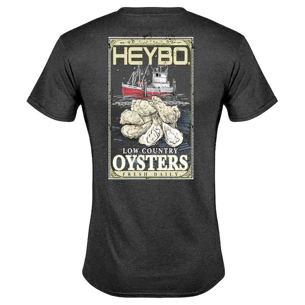 Heybo Oyster Label Short Sleeve T-Shirt Charcoal Heather