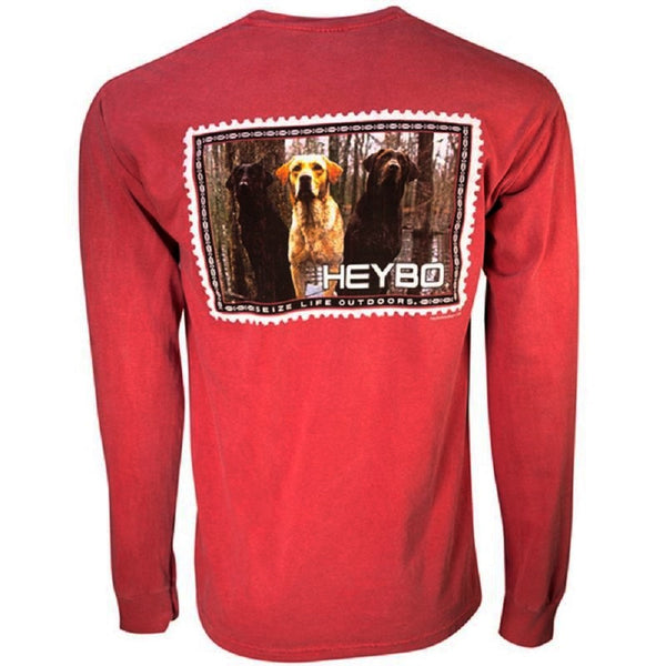 Heybo Neapolitan Long Sleeve T-Shirt Red