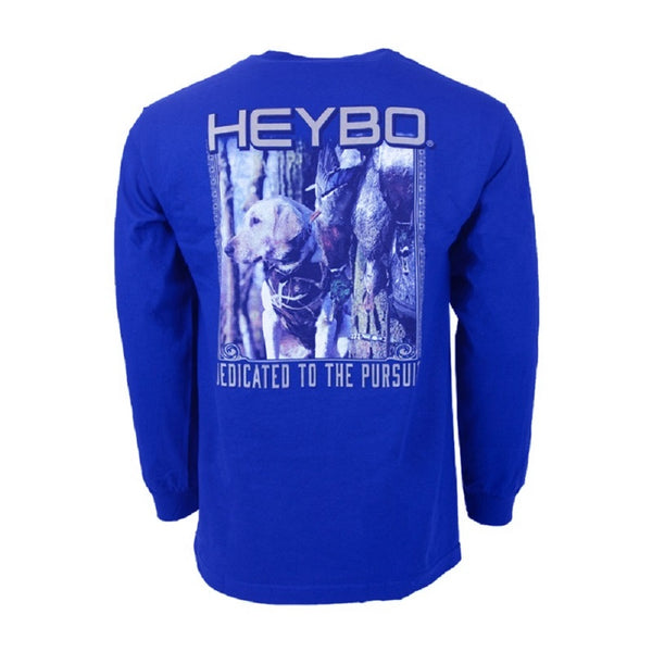 Heybo Doc The Lab Long Sleeve T-Shirt Royal Blue