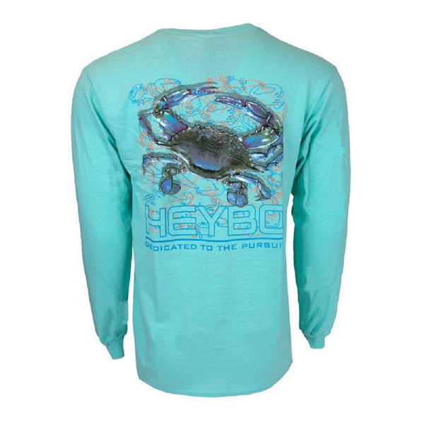Heybo Blue Crab LS T-Shirt Celadon Blue