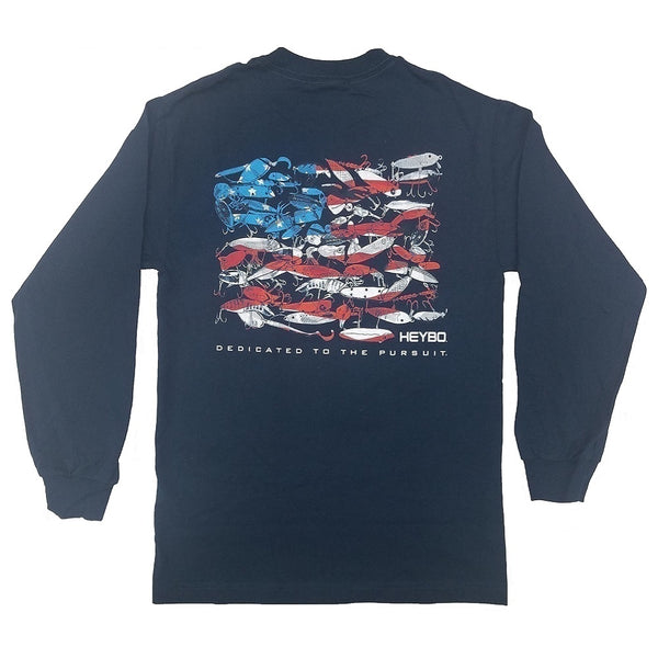 Heybo Lure Flag Long Sleeve T-Shirt