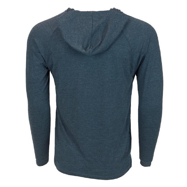 Heybo Tri Blend Lightweight Hoodie Navy Back