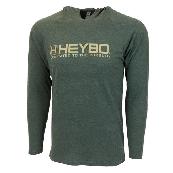 Heybo Tri Blend Lightweight Hoodie Olive Front