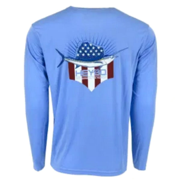 Heybo Reef Performance Patriotic Sail L/S Performance T-Shirt