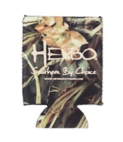 Heybo Logo Definition Camo Koozie