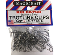 Magic Bait Big Catch Stainless Steel Trotline Clips 25-Pack