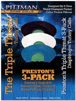 Pittman Game Calls The Triple Threat 3-Pack Turkey Mouth Calls