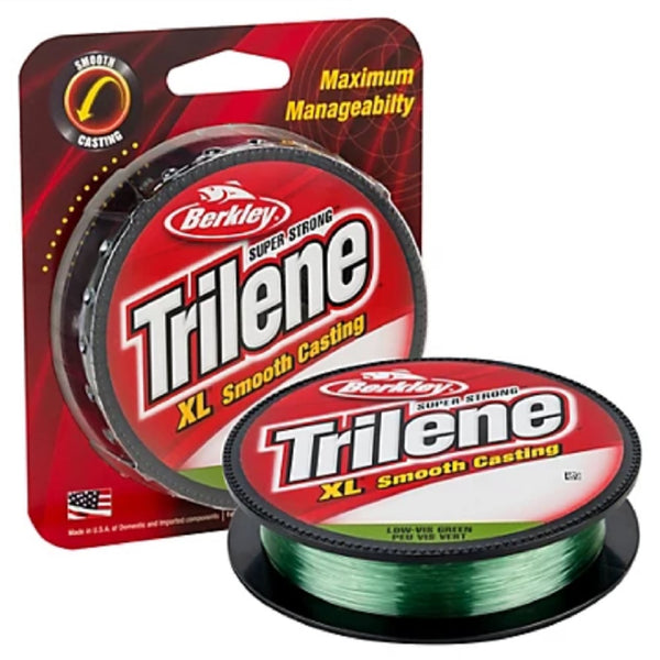 Berkley Trilene XL Smooth Casting Fishing Line - Filler Spools - Low-Vis Green