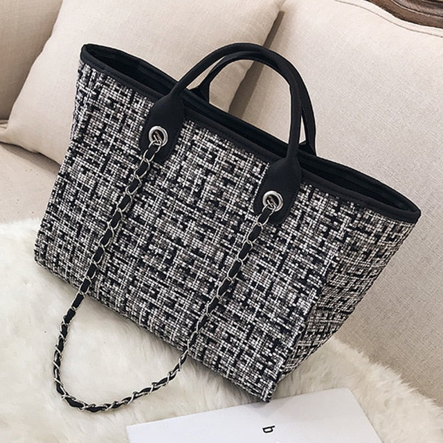 Tweed Tote Leisure Bag