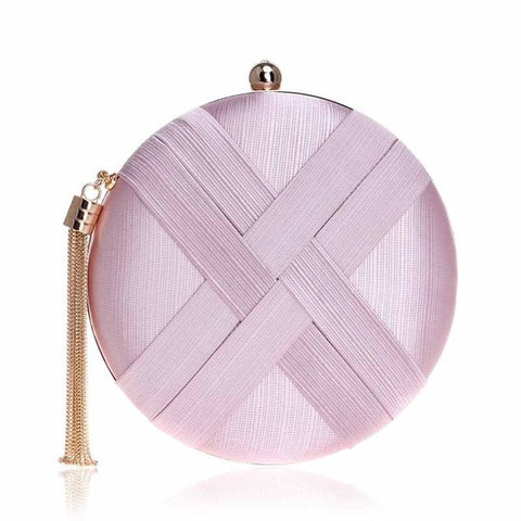 Round Evening Clutch Bag
