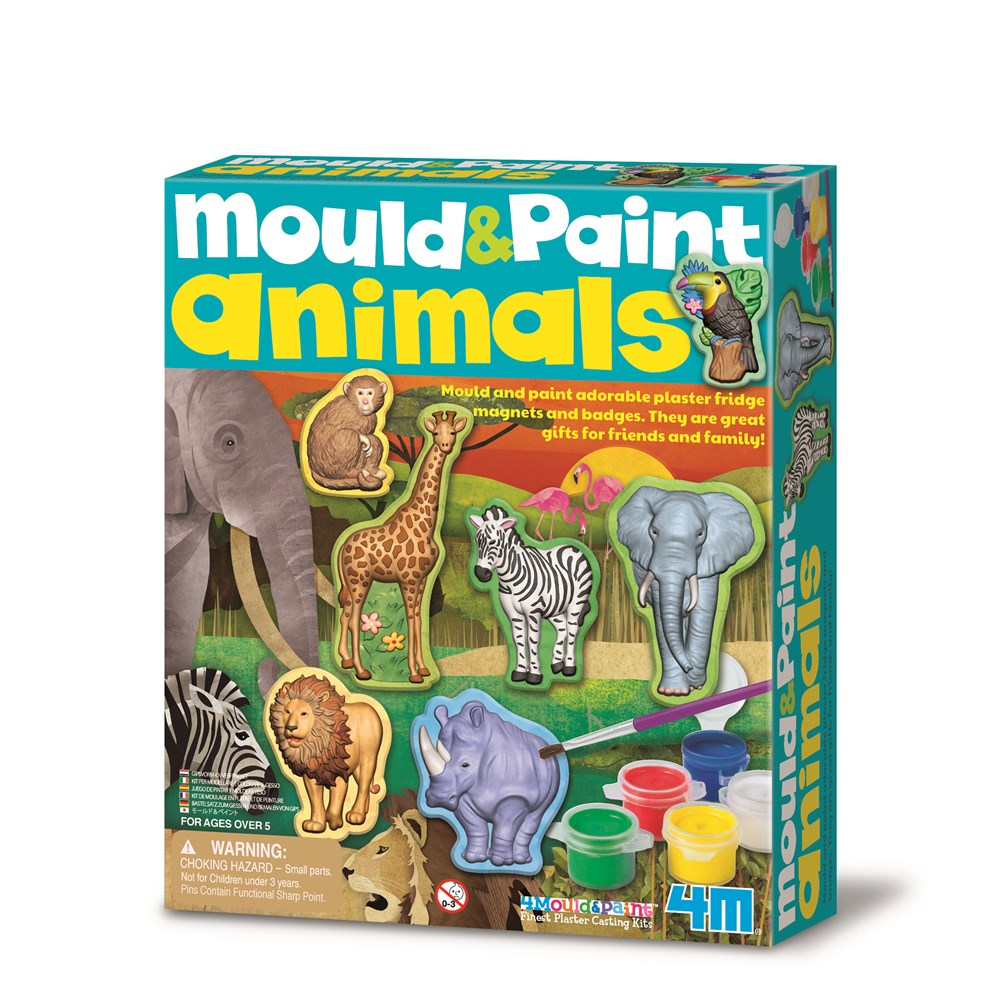 4M - Mould & Paint - Wildlife Animals