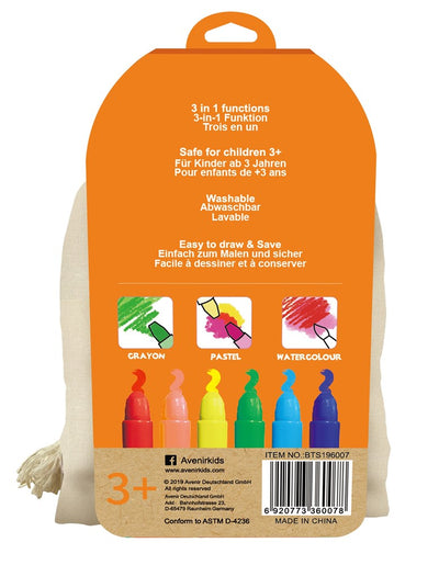 Avenir - Silky Crayons Canvas Bag - Fox