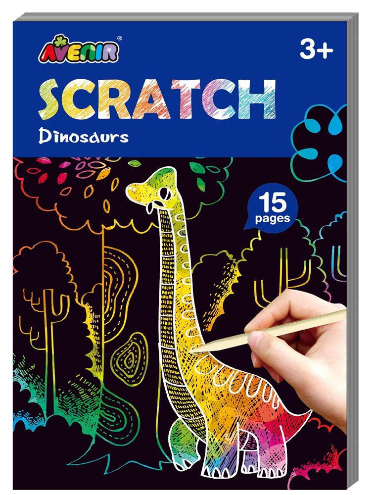 Avenir - Mini Scratch Book - Dinosaurs