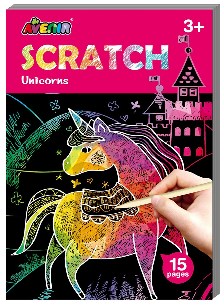 Avenir - Mini Scratch Book - Unicorns