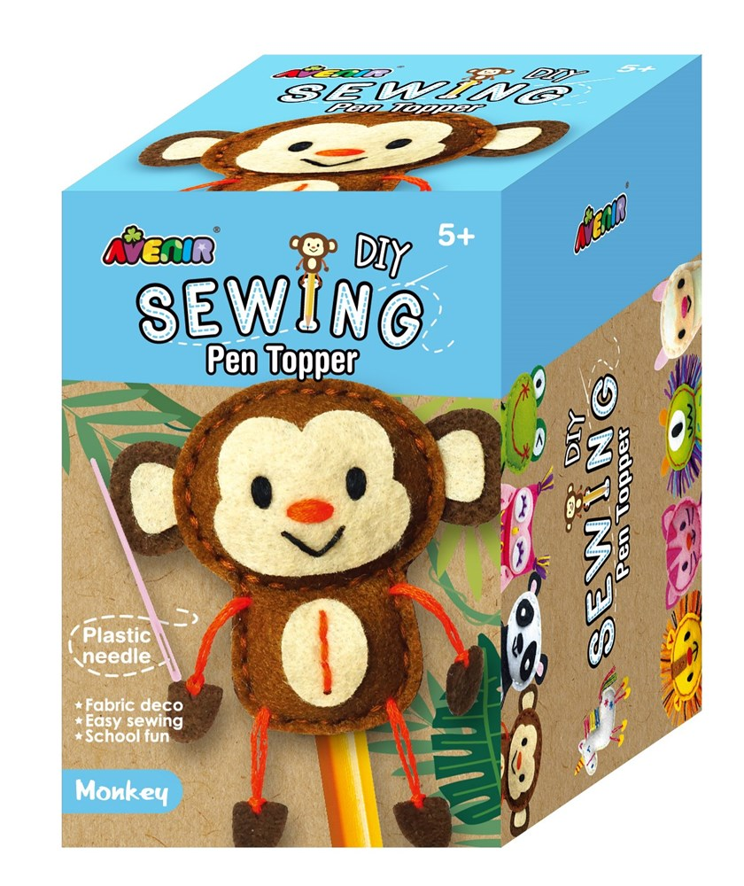 Avenir -  Sewing - Pen Topper - Monkey