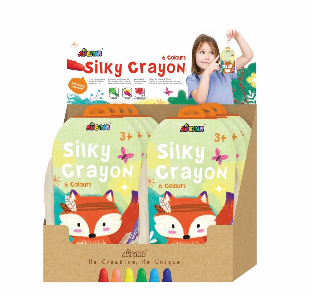 Avenir - Silky Crayons Canvas Bag - Fox (Display of 8)
