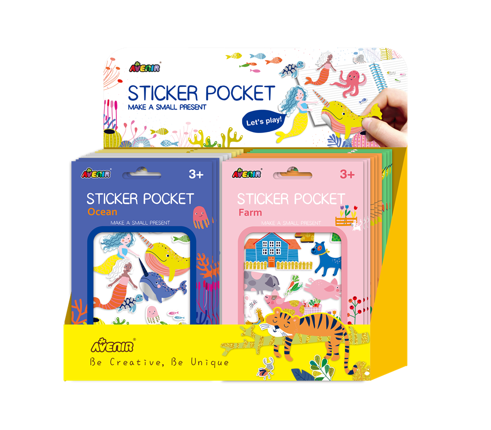 Avenir - Sticker Pockets (Display of 72 - 12x6)